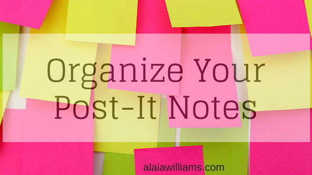 Organize Your Post-It Notes