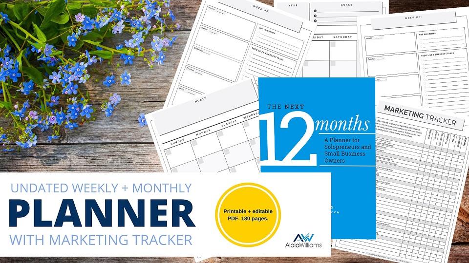 weekly planner printable flat lay